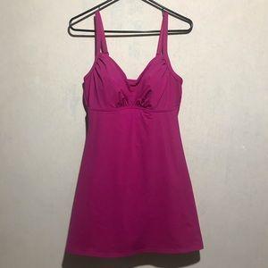 Lands end 1 piece swimsuit, Pink, SZ12